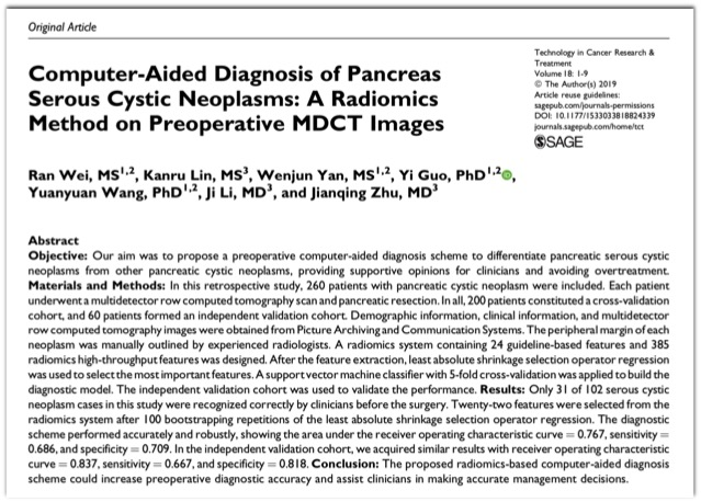Pancreas: Texture Analysis Imaging Pearls - Educational