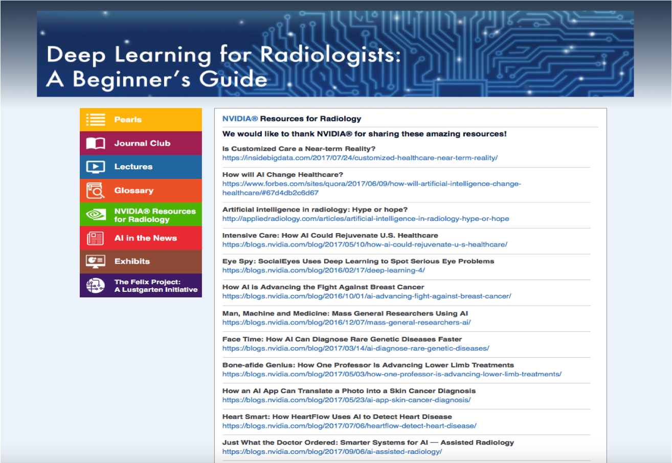 NVIDIA Resources for Radiology